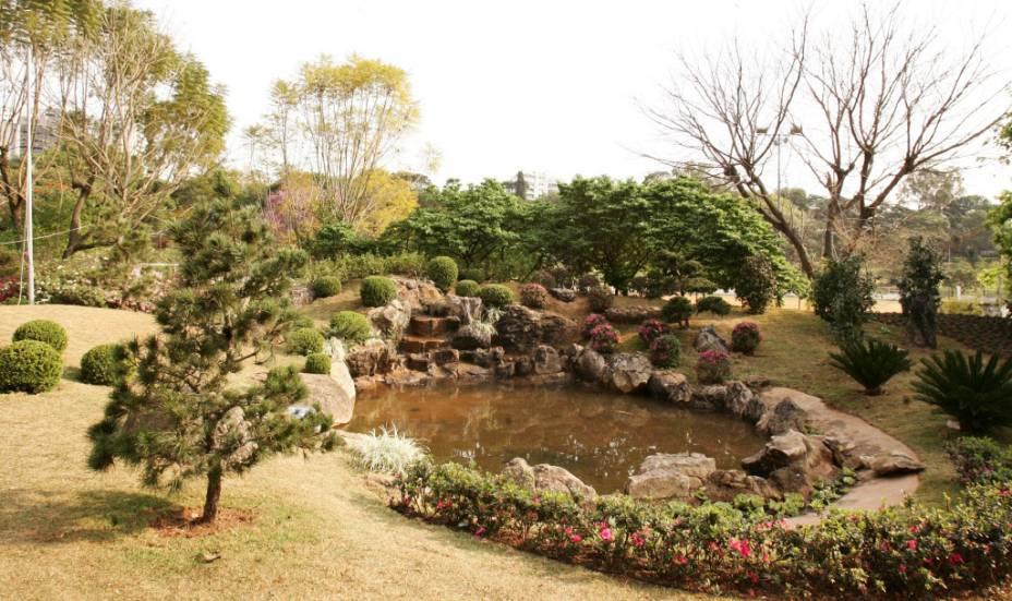Jardim japonês do Centro Educacional e Esportivo Edson Arante do Nascimento, conhecido como Clube Pelezão