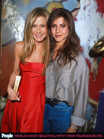 Jennifer Aniston em 1990 e em 2013