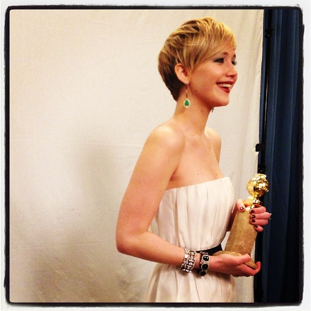 Jennifer Lawrence: melhor atriz coadjuvante por Trapaça