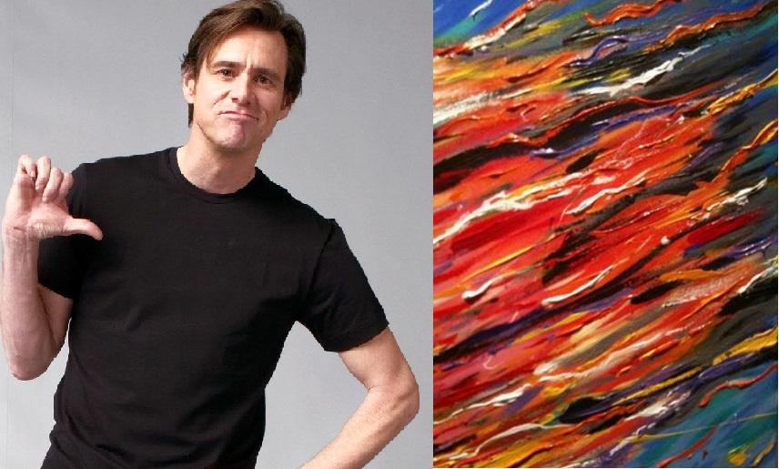 Jim Carrey começou a pintar em 2010 e, pelo visto aqui, tem futuro