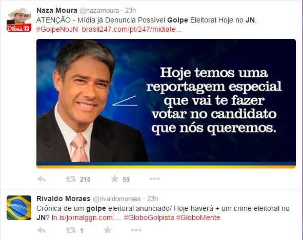jornal nacional golpe eleições