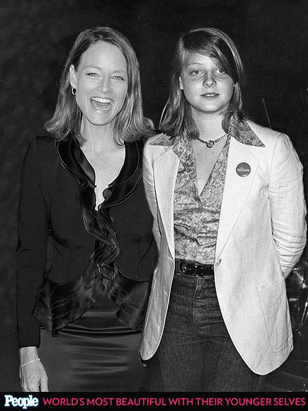 Jodie Foster em 1977 e em 2012