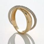 Anel de ouro e diamantes, da Vivara: lance inicial R$ 1.200,00
