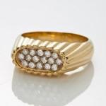 Anel de ouro 18k e diamantes, da H.Stern: lance inicial R$ 950,00
