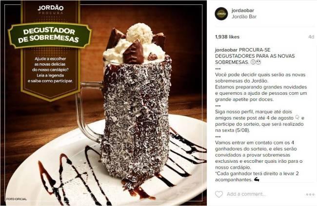 Jordão Bar - degustador de sobremesas