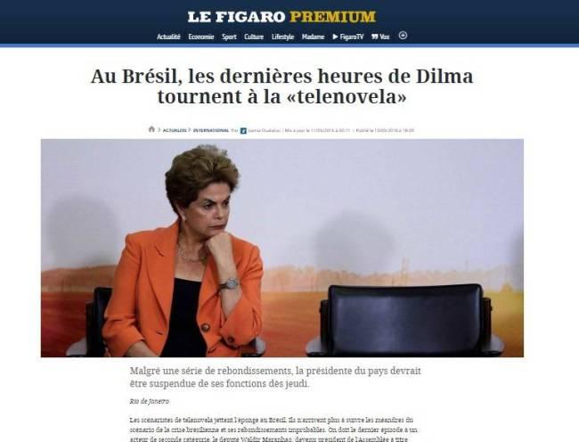 jornal - le figaro - dilma