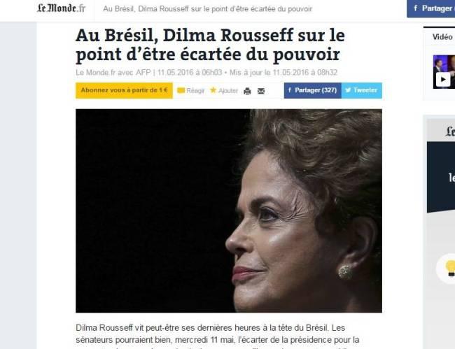 jornal - le monde - dilma