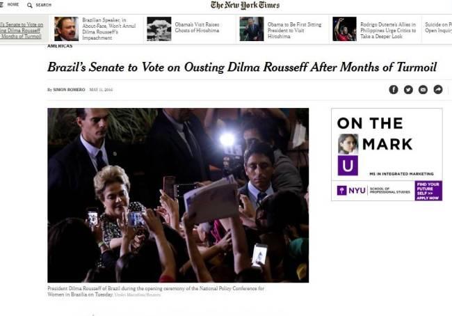 jornal - nytimes - dilma