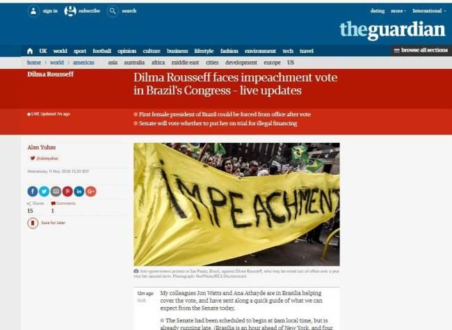 jornal  - The Guardian - dilma