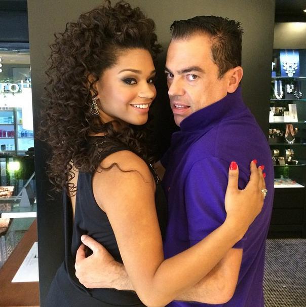 Com a deusa dos cabelos crespos, Juliana Alves!