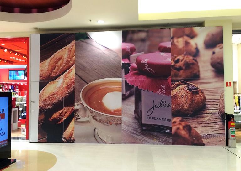 Oculta pelos tapumes: nova unidade da padaria será no Shopping Villa-Lobos (Foto: Arnaldo Lorençato)