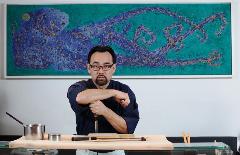 Jun Sakamoto, donodo restaurante japonês com seu nomee sócio do JunJi e da Hamburgueria Nacional (Foto Wanezza Soares)