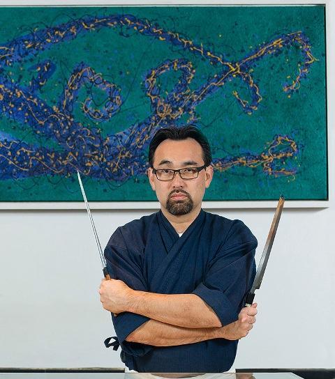 O chef: 1,5 milhão de reais investidos em novo restaurante Kakamoto: (Foto: Wanezza Soares)