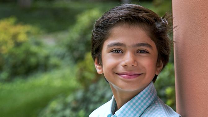 Este é Neel Sethi, um nova-iorquino de 10 anos, que vai interpretar Mogli.