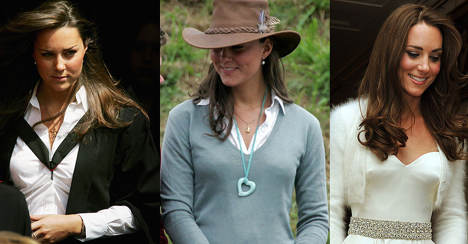 Nas imagens, você pode ver a Duquesa em duas fotos de 2005 (esquerda-final da faculdade) e uma foto do casamento (direita - 2011). Hoje, de acordo com o jornal Daily Mail, Kate pesa pouco mais de 50 kg e tem 1,78 m.