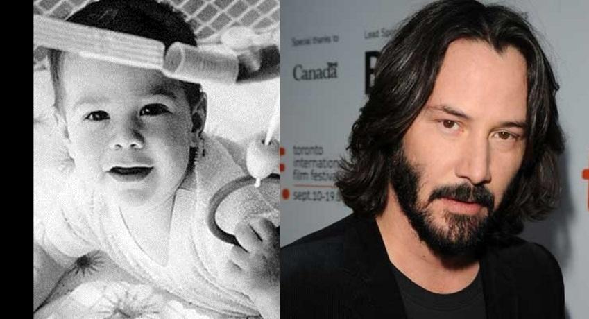 Fofo, muito fofo o bebê Keanu Reeves. Concorda?