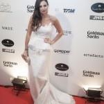 Kelly Piquet: vestido emprestado da grife Martha Medeiros (Foto: Rodrigo Dionísio)