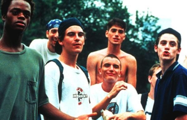 O elenco masculino de Kids, em 1995