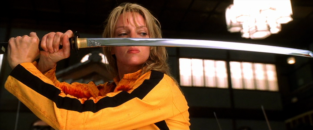 Uma Thurman se prepara para a matança em Kill Bill