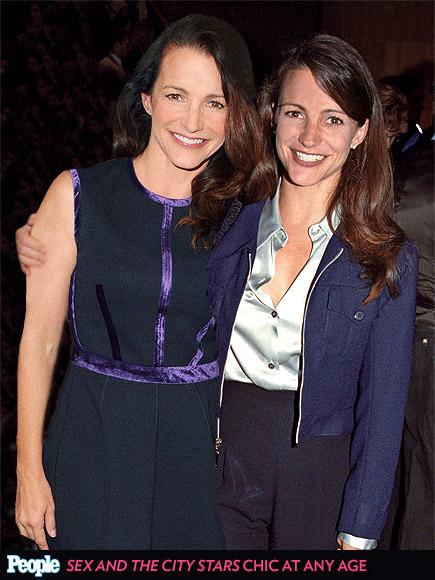 Kristin Davis em 1995 e em 2013