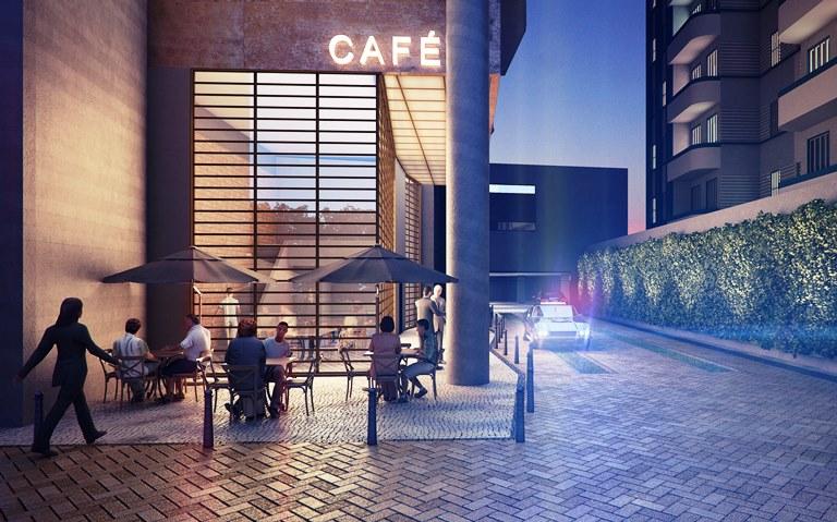 No térreo do futuro BK30: café em estilo retrô
