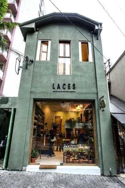 A fachada do Laces and Hair, na Rua da Consolação