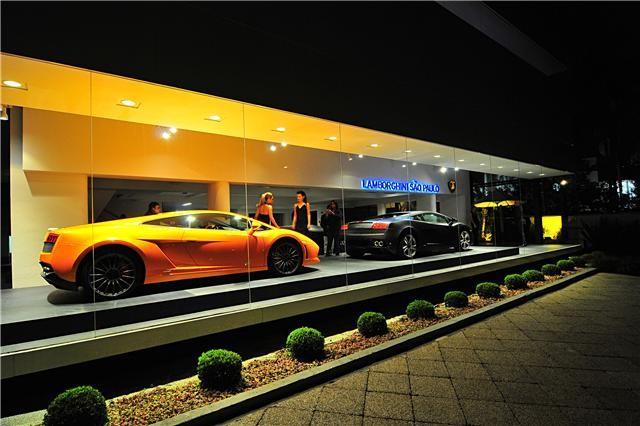 Concessionária da Lamborghini, na Avenida Europa