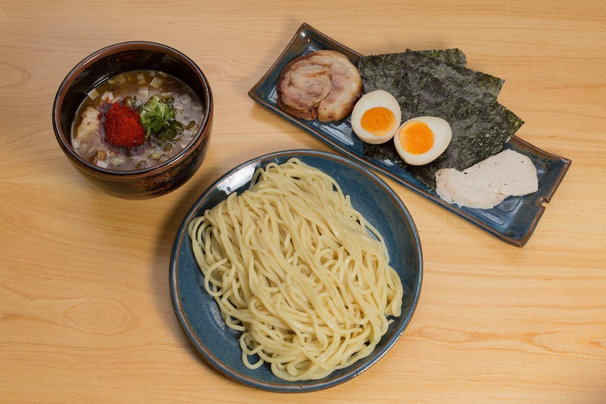 Lámen em estilo tsukemen: ingredientes separados (Fotos: divulgação)