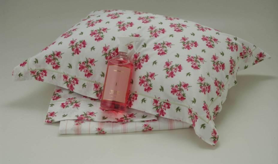 Lençol de solteiro, travesseiro e perfume para roupas de cama, da Trousseau
