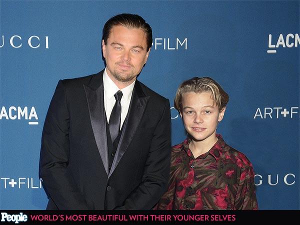 Leonardo DiCaprio em 1989 e em 2013
