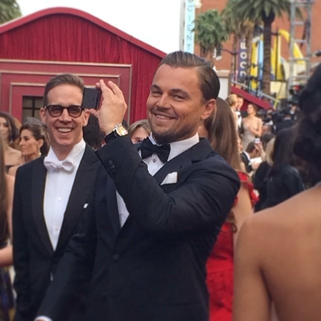 """Leo DiCaprio fazendo uma """"selfie"""""""