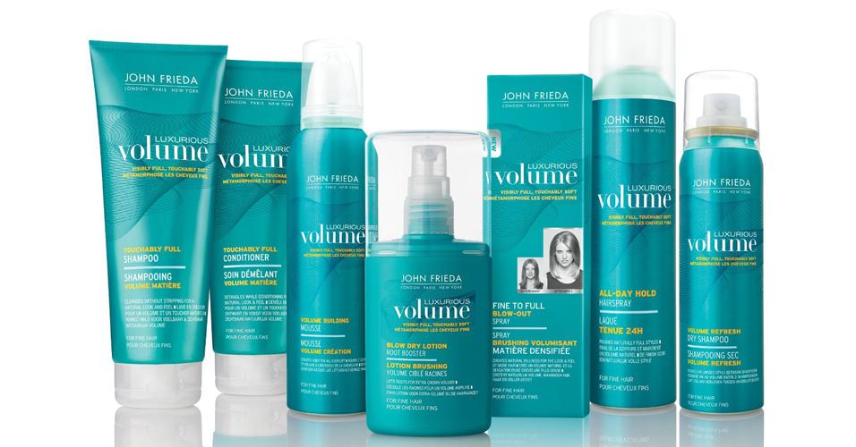 Linha Volume Luxurious, da John Frieda: produtos que vão te ajudar a dar mais corpo e textura para os fios curtos e finos (Foto: Divulgação)