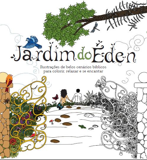 Livros colorir - Jardim do Éden