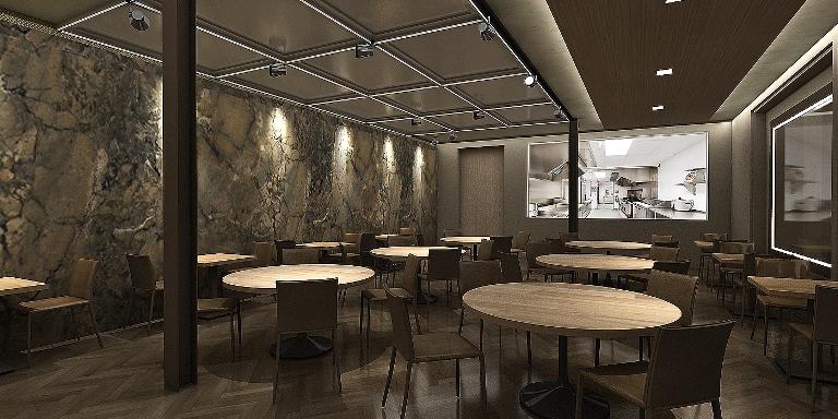 Cozinha: atração do restaurante de alta gastronomia (Arquitetura: Jayme Lago Mestieri)