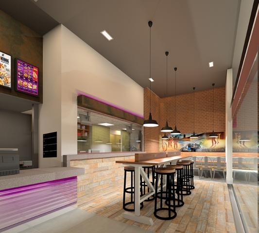 Projeto da Loja da Taco Bell: loja abre dia 16 de setembro (Foto: Divulgação)