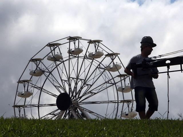 Lolla: roda-gigante entre as atividades paralelas (foto: Ricardo Matsukawa)