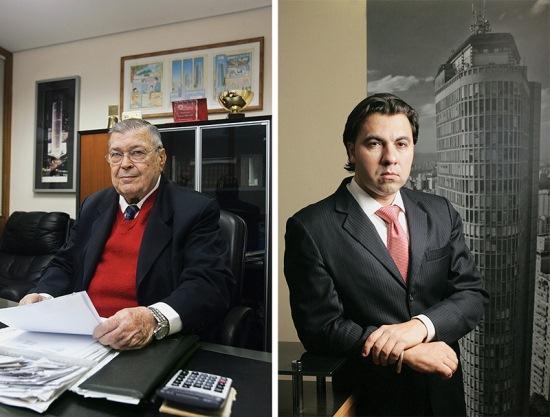 O síndico Del Maffeo e o condômino Trotta: nova eleição ainda sem data para ocorrer (fotos: Mario Rodrigues e Fernando Moraes)