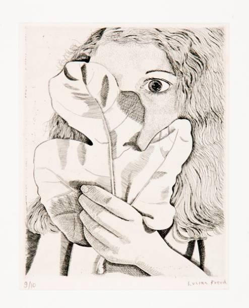 Moça com Folha de Figo: desenhos compõem maior parte da mostra