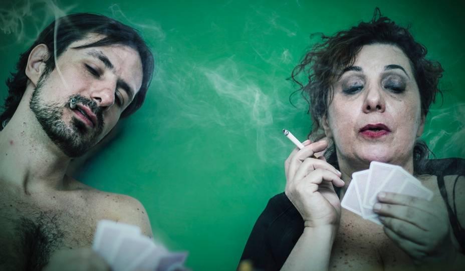 Os atores Lulu Pavarin e Rodrigo Audi na peça Amor de Mãe - Parte 13