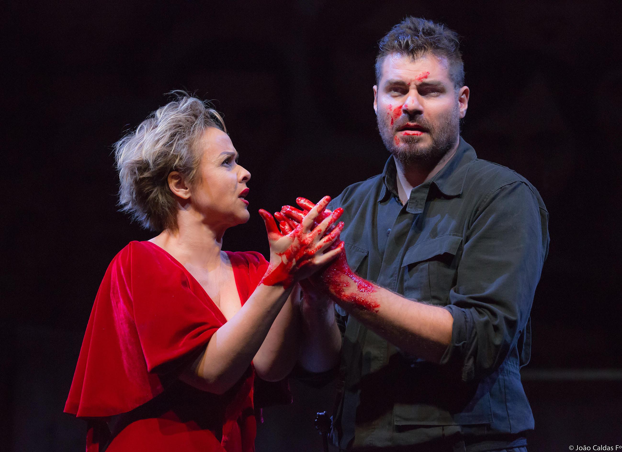 """Giulia Gam e Thiago Lacerda: """"Macbeth"""" tem direção de Ron Daniels (Foto: Joao Caldas)"""