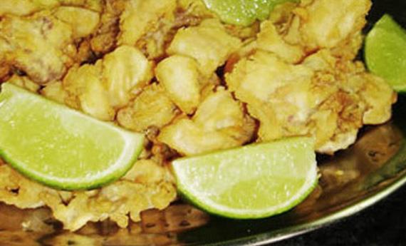 Iscas de peixe empanadas