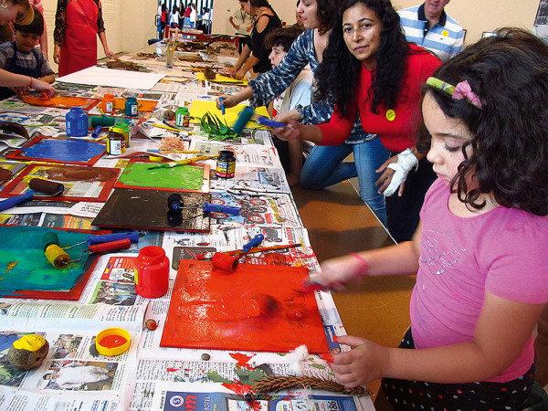 Além de cursos teóricos e práticos, o MAM também oferece oficina para crianças (Foto: Tereza Grimaldi)