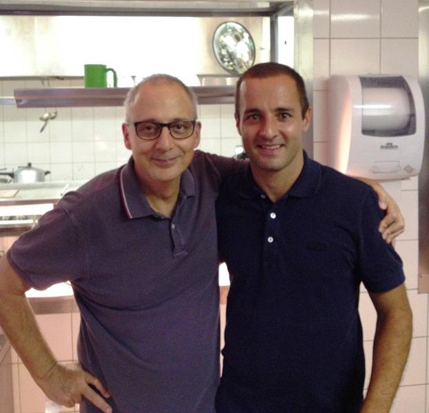 O chef com o sócio Paulo Abbud: dedicação integral a um único restaurante