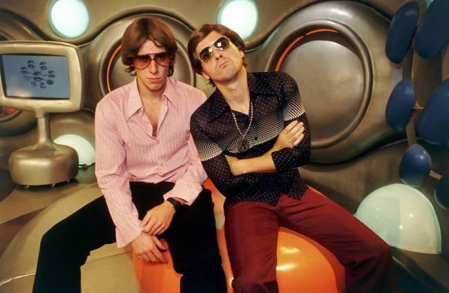 Marco Antonio e Fausto Fanti, apresentadores do programa _Hermes & Renato_, da MTV
