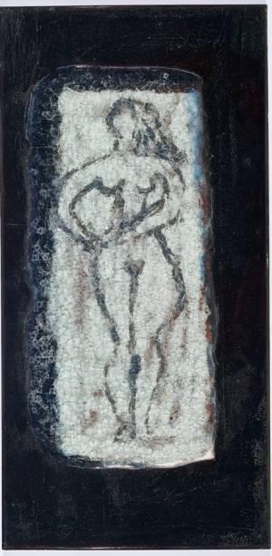 Maria Martins, Composição (mulher com braços na cintura), 1948; cerâmica industrial esmaltada