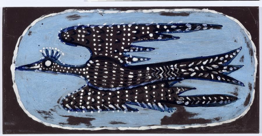 Maria Martins, Composição (pássaro), 1948; cerâmica industrial esmaltada