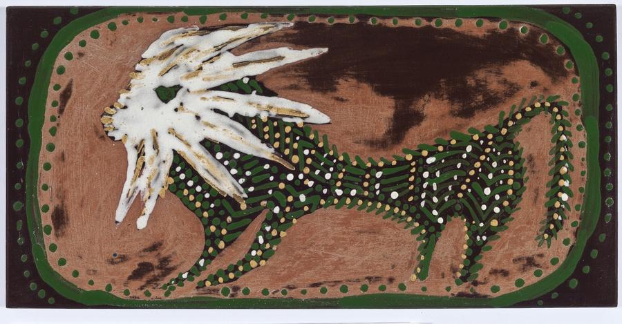 Maria Martins, Composição (leão), 1948; cerâmica industrial esmaltada