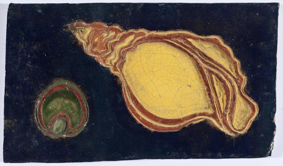 Maria Martins, Composição (concha), 1948; cerâmica industrial esmaltada