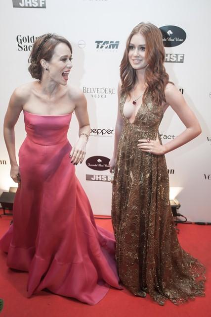 Mariana Ximens e Marina Ruy Barbosa: estrelas da Globo marcaram presença (Foto: Rodrigo Dionísio)