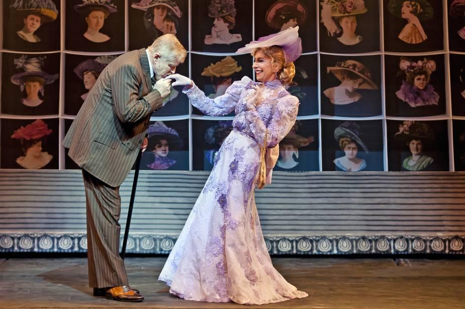 """Miguel Falabella e Marília Pêra no musical """"Alô, Dolly!"""""""